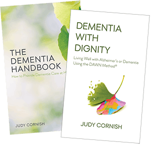 The Dementia Handbook and Dementia With Dignity book covers